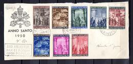 1950    Année Sainte Sur Fragment De Feuille Avec Cachet Année Jubilaire, 150 / 157,