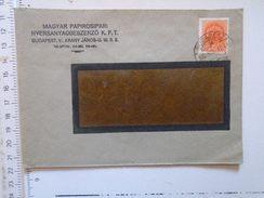 D149821 Hungary    Cover  - Magyar Papirosipari Nyersanyagbesz. Kft.  Budapest  -1942