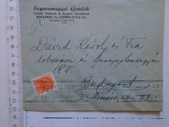 D149822 Hungary    Cover  - Sopron Sopron Megyei Gazdak - Handstamp Hulladékgyujtés Nemzeti Érdek-   Budapest  -1942