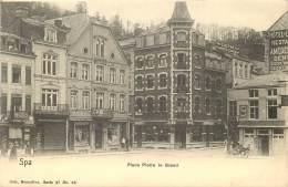 Spa - Place Pierre Le Grand - Hôtel Royal - Publicité Singer - Spa