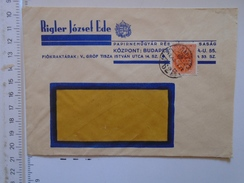 D149825 Hungary    Cover  -Rigler Jozsef Ede - Papírnemugyar -Paper Porducts  Factory    Budapest  -1942