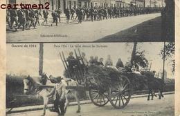 NANCY MULTIVUES INFANTERIE ALLEMANDE FUITE DEVANT LES BARABARES GUERRE 1914 ATTELAGE CHEVAL 54 - Nancy