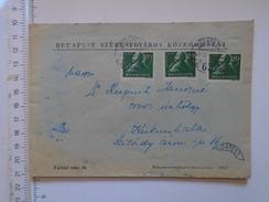D149826 Hungary    Cover  -    Budapest  Közkorhazai  - Hospital Hospitals Of Budapest  -1947