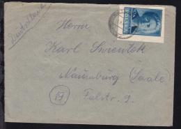 Freimarke 10 Zl. Auf Brief Ab Katowice 7.9.47 Nach Naumburg - Polen