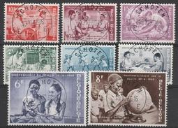1139/1146  Serie Congo Oblit/gestp Centrale