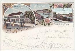 Maximiliansau - Gruss Aus Dem Anker - 1898      (A-36-150108) - Germania
