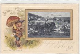 Bebenhausen - Ich Bringe Glück - Prägelitho Mit Zwerg Und Pilz       (A-36-150108) - Germania