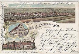 Gruss Aus Enzweihingen - Litho - 1900       (A-36-150108) - Deutschland