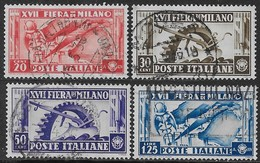 Italia Italy 1936 Regno Fiera Di Milano Us Sa N.394-397 Completa US
