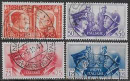 Italia Italy 1941 Regno Fratellanza D'armi Italo-tedesca 4val Sa N.453,455-457 US