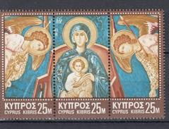Zypern Kpl. Satz  Dreierstreifen + 75 M Weihnachten 1970 - ** Ungebraucht