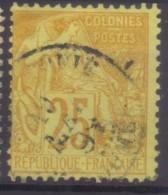 YT53 Alphee Dubois Jaune 25c - Nouvelle Caledonie Noumea