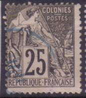 YT54 Alphee Dubois Noir 25c - Obliteration Bleue