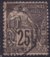 YT54 Alphee Dubois Noir 25c - Correspondance D'armees Martinique Fort De France
