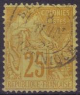 YT53 Alphee Dubois Jaune 25c -Martinique Saint-Pierre