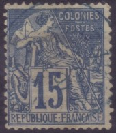 YT51 Alphee Dubois 15c - Cachet A Date Bleu Reunion Saint Pierre?? - Alphée Dubois