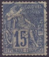 YT51 Alphee Dubois 15c - Cachet A Date Bleu Reunion Saint Pierre??