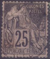 YT54 Alphee Dubois Noir 25c - Guadeloupe