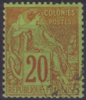 YT52 Alphee Dubois 20c - Guadeloupe Capesterre