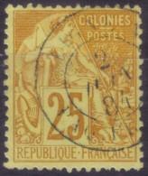 YT53 Alphee Dubois Jaune 25c -Paquebot Paq FR