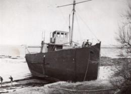 France Le Croisic Mysterieuse Epave Bateau Fantome Ancienne Photo 1936 - Boats