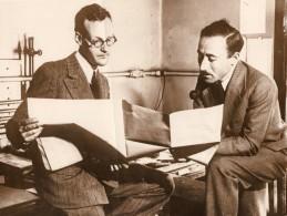 Chercheurs Dr Gunther Val Elbe & Bernard Lewis Bombes Bureau Des Mines Ancienne Photo 1931 - Professions