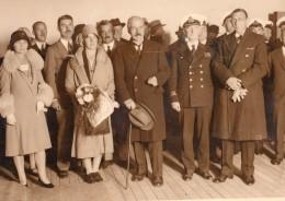 Homme D'Etat Britannique Ramsay MacDonald Sur Un Bateau Ancienne Photo 1930