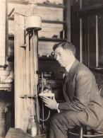 Sciences Chimie Professeur Newton Henry Black Alambic Mercure Ancienne Photo 1927 - Professions