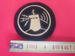 Patch  Transmission-Radar-Sonar-Écusson Tissu(Feutrine)Marine Nationale France Militaria  Équipement-à Identifier? - Equipement