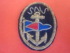 Écusson SNS - Société Nationale De Sauvetage En Mer - Écusson Tissu (épais) Marine Nationale Militaria>Équipement - Equipment