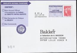 D911 - Entier / Stationery / PSE - PAP Réponse Beaujard - Bakker - Agrément 12P197