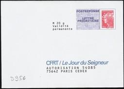 D956 - Entier / Stationery / PSE - PAP Réponse Beaujard, CFRT La Jour Du Seigneur -  Agrément 12P193
