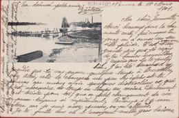 Hemixem Hemiksem ZEER OUDE POSTKAART 1901 Dèpot St Bernard Pontage De Genie Geniekorps Ponton Schelde