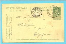 Entier Met Sterstempel (Relais) * MELDERT (BRABANT) * Op 10/08/1914 Naar GENT 11/8/14 (Offensief W.O.I) (tekst !!!)
