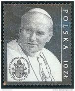 VATICANO 2003 PAPA GIOVANNNI PAOLO II SU LAMINA D'ARGENTO CONGIUNTA POLONIA MNH