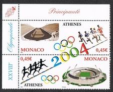 MONACO 2003  - ( JEUX OLYMPIQUES D'ETE A ATHENES ) MNH** MINT NICE STAMPS  SET  YVERT&TELLIER # 2439-2440 - Monaco
