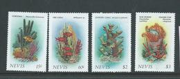 Nevis 1986 Marine Life Coral Forms Set (4) MNH - St.Kitts And Nevis ( 1983-...)