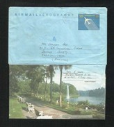 Singapore Air Mail Postal Used Aerogramme Cover Singapore To Pakistan