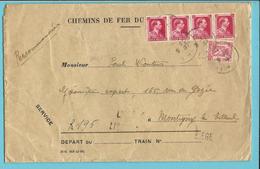 423+528 Op Brief CHEMINS DE FER DU NORD-BELGE Aangetekend Stempel LIEGE 4,met Stempel Als Noodaantekenstrookje LIEGE 4