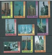 Nevis 1986 Statue Of Liberty Set Of 10 & 4 Miniature Sheets MNH