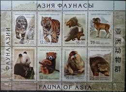 Kyrgyzstan, 2008, Animals, Tiger, Snow Leopard, Monkey, Panda, Manul, MNH