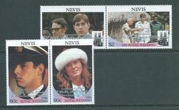 Nevis 1986 Congratulations Overprints On Royal Wedding Set Of 2 Pairs MNH