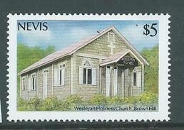 Nevis 1986 $5 Wesley Church Christmas Single MNH