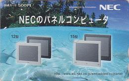 RARE Carte Prépayée Japon - ORDINATEUR NEC - COMPUTER Japan Prepaid Card - PC Tosho Karte - 13 - Advertising