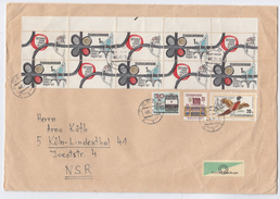 1971 CZECHOSLOVAKIA COVER  Block 10x ROAD CONGRESS  Stamps To Germany Bird Road Safety Map