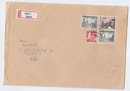 1970 REGISTERED  Cheb CZECHOSLOVAKIA COVER  3x 5k 1x 50h Stamps  To Germany - Czechoslovakia