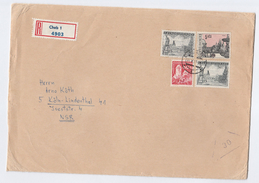 1970 REGISTERED  Cheb CZECHOSLOVAKIA COVER  3x 5k 1x 50h Stamps  To Germany