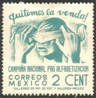 608 Mexico 1945 2 Cent Literacy Alphabétisation MH * Neuf CH (M-MEX-134)
