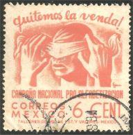 608 Mexico 1945 6 Cent Literacy Alphabétisation (M-MEX-135)