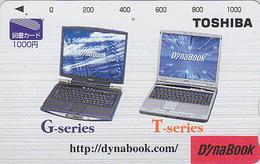 Carte Prépayée Japon - ORDINATEUR PORTABLE TOSHIBA - COMPUTER / DYNABOOK Japan Prepaid Tosho Card - 21 - Japon
